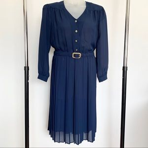 Vintage Tabby Of California Navy Dress Size 12